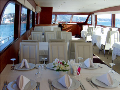 teknede iş yemeği