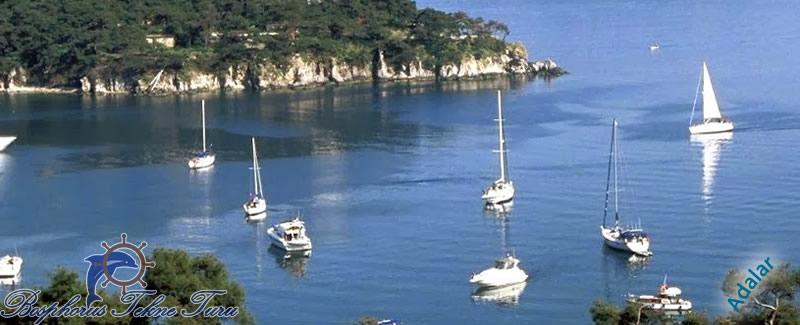 Adaların denize doğru çekilmiş bir fotoğrafı
