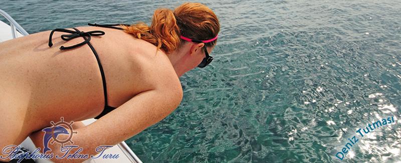 Denizde mideniz bulanabilir deniz sizi tutabilir.