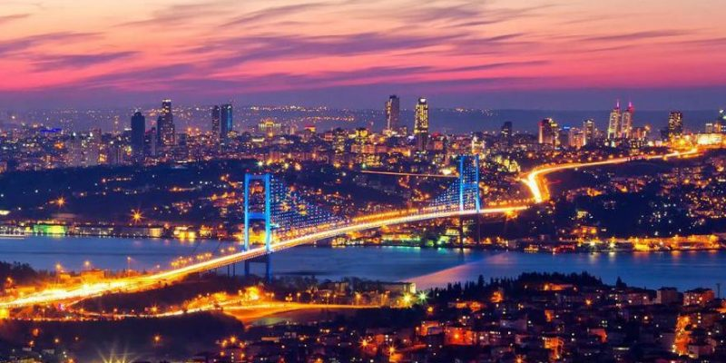 İstanbul boğazına uzaktan bakış