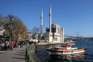 Beşiktaş'tan Ortaköy'e doğru kıyı boyu