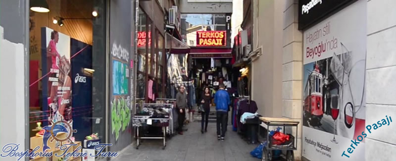 İstanbuldaki alışveriş yapabileceğiniz Terkos Pasajından bir fotoğraf