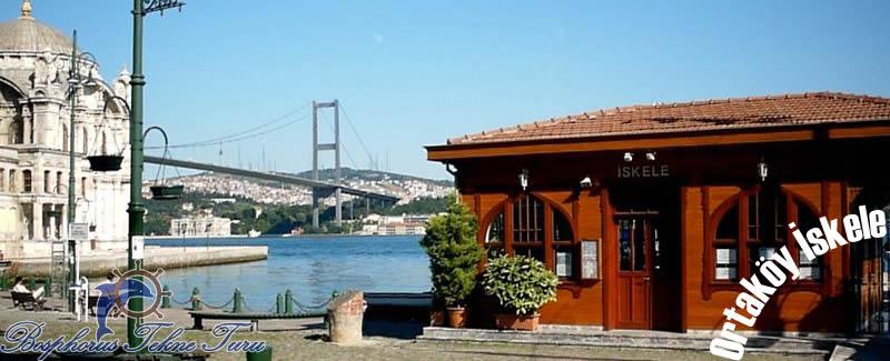 Tekneli boğaz turu için Ortaköy İskeleden çekilmiş fotoğraf